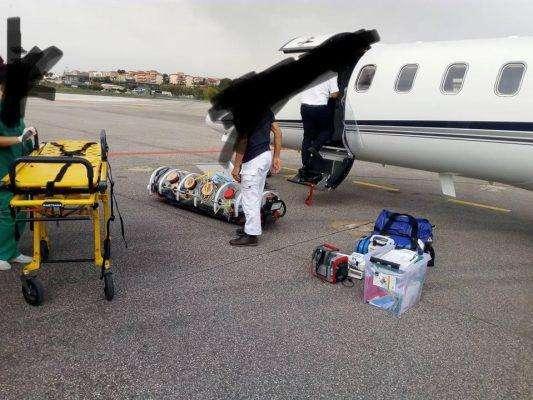 Κέρκυρα: Αεροδιακομιδή ασθενή με Covid19 στην πατρίδα του